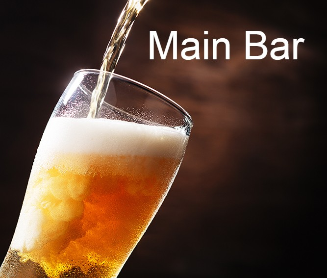Our Big Bar serving over 100 real ales, lagers and local Ciders
